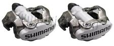 Shimano PDM520 Clipless SPD M520 Cleats & MTB Hybrid Bike Pedals White
