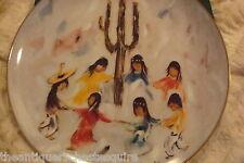"De Grazia Paints the Holidays Collector Plate ""Saguaro Dance"" limited ed[2sh]"
