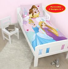 DISNEY PRINCESS 'ENCHANTING' JUNIOR COT BED DUVET COVER SET TODDLER GIRLS DUVET