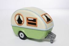 FAIRY GARDEN Miniature ~ Camping Trailer With Solar Light ~ Mini Dollhouse