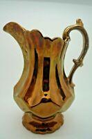Pichet ancien en faïence de Jersey Irisé 19 ème Hauteur : 21,5 cm