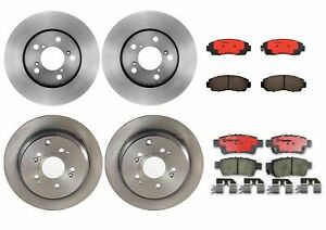 Brembo Front Rear Brake Kit Disc Rotors Ceramic Pads For Honda Odyssey 2005-2010