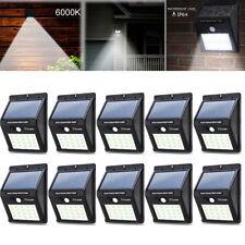 10 Pack 12 LED Solar Power PIR Motion Sensor Wall Light Waterproof Outdoor Lamps