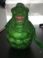 Slimer Ghostbusters Glow In The Dark Coin Piggy Bank toy figure statue RARE 2009