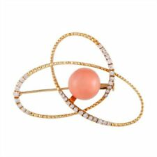 Coral Yellow Gold Fine Brooches