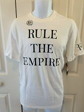 "Nike Federer Rf Practice Tennis Tee Shirt ""Rule The Empire"" Ny 627150-100"