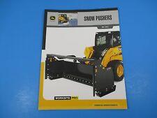 Original John Deere Sales Brochures Snow Pushers SP8 SP10 Worksite Pro M1364