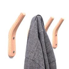 Rustic Oak Wooden Kitchen Towel Coat Hat Holder Hook Rack Organizer Wall Mounted
