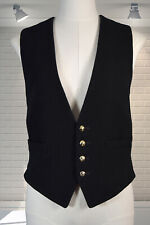 "Excellent Vintage Gents Bespoke Wool & Satin Military Waistcoat 38"" Chest"