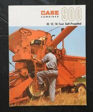 """1965 J I Étui """" Modèle 900 10 13 14' Auto-Propulsé Combiner """" Catalogue Brochure"""
