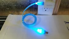 Visible LED Flow Light Micro USB Charging & Data Sync Cable for Android lot x10