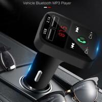 Bluetooth Auto FM Sender Auto Zigarettenanzünder Adapter USB Player MP3 D6P9