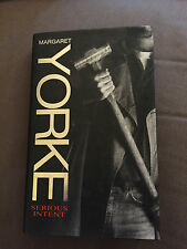 """1995 *SIGNED COPY* 1ST EDITION """"SERIOUS INTENT"""" MARGARET YORKE HARDBACK BOOK"""