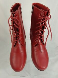 Beacon Angel Flex Red Boots Womens Sz 10
