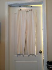 Casual Corner Sz 16 Women Off White Lined Dress Slacks!! Free Shipping!!