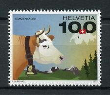 Switzerland 2017 MNH Swiss Cow Simmentaler 1v Set Farm Animals Stamps