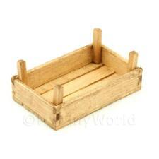 Puppenhaus Miniatur klein Jahrgang Holz Gemüse Kiste