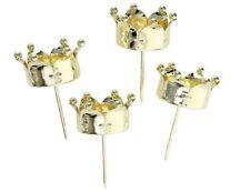 4 STÜCK Kerzenstecker Krone GOLD Farben Teelichthalter zum Stecken Kerzenhalter