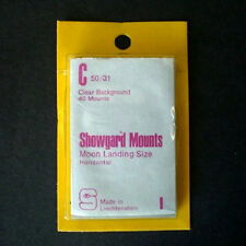 Showgard Stamp Mounts Size C 50/31 CLEAR Background Pack of 40