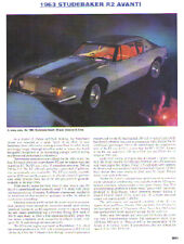 1963 Studebaker Avanti R2 Article - Must See !!