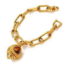 New Rebecca 10.86ctw Hydro Smoky Quartz Trillion Amulet Bracelet