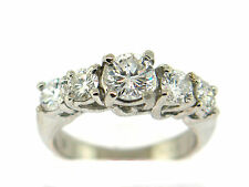 950 Platinum diamond engagement ring 1.53 CT round brilliant  cut VS2/F