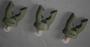 3 x Pro Carp fishing soft rubber butt grip GRN or BLK