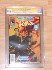 Star Trek X-Men Second contact Variant cover CGC SS 9.6 Signed by P. Stewert