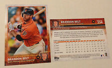 2015 Topps 5x7 BRANDON BELT (#/99 Made) Giants #234 Online Exclusive Jumbo Print