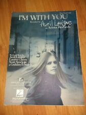 Sheet Music Piano Vocal Guitar I'm With You By Avril Lavigne Arista Records