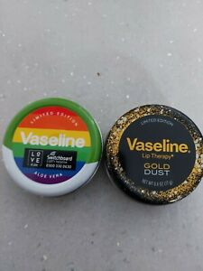 Vaseline lip therapy 'Pride' And 'Gold Dust' New and unused  20g tins