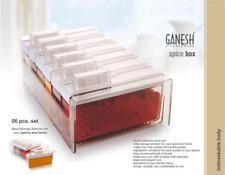 Spice Seasoning Box Shakers Set Plastic Transparent 6pc Herbs & Spice Shaker Jar