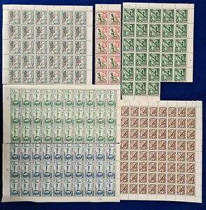 1937/1948 Malta KGVI Large blocks / Part sheets collection lot MNH