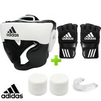 New! adidas MMA Boxing Sparring Set! Headguard, Gauze & Mouthguard
