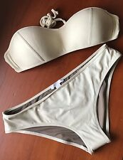 NWT Chloe Mare Donna Bandeau Push Up Bikini Italy 46 US Large Swim SetTop Bottom