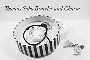 Thomas Sabo Sterling Silver Charm Club Adjustable Bracelet + 18th Birthday Charm