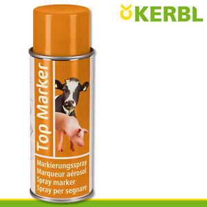 Kerbl 500ml Viehzeichenspray Top Marker orange Weide Stall Kühe Schweine