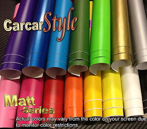 Foglio Carta Vinile Adesiva Mod.Opaca Larghezza 1.52mt Vari Colori Ideale Auto