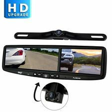 Pyle Rearview Mirror Backup Camera Parking Monitor, Video Recording Driving Syst
