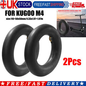 2x 10 inch E-Scooter Pneumatic Rubber Inner Tube for Kugoo M4 10x2.5 Parts UK
