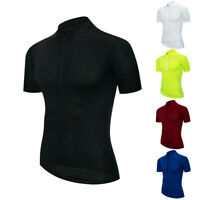Pure Color Men's Cycling Jersey Bike Short Sleeve Clothing Bicycle T-Shirt Tops