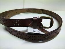 New Ladies %HOLLISTER ABERCROMBIE% Brown Genuine Leather Belt Sz. XS/S