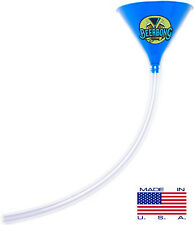 Party Beer Bong 2 Foot Tube - Best Funnel Blue - Made in USA