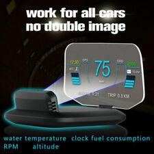 OBD2 Car HUD Digital GPS Speedometer Head Up Display Overspeed Warning Projector