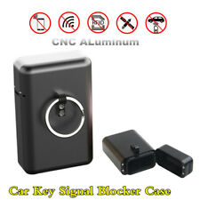Car Key Signal Blocker Keyless Fob RFID Shield Blocking Black CNC Aluminum Case