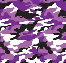 Hydrographic Film Water Transfer Hydrodipping Hydro Dip Army Camo Purple 1M
