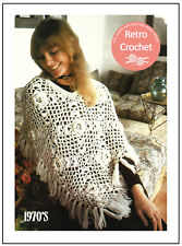 Jolie Fleur Motif Poncho 1970 S CROCHET PATTERN copie