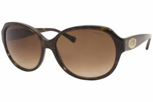 Coach HC8150 512013 Sunglasses Women's Dark Tortoise-Gold/Brown Gradient Lenses