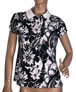 🌻TOMMY HILFIGER LADIES SIZE L/G FLORAL POLO TOP LIKE NEW