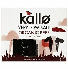 Kallo Organic Beef Stock Cubes Very Low Salt 51g